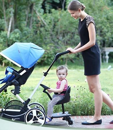 Pedal cochecito de dos fetos empuje accesorios gemelos cochecito de bebé de dos pedales