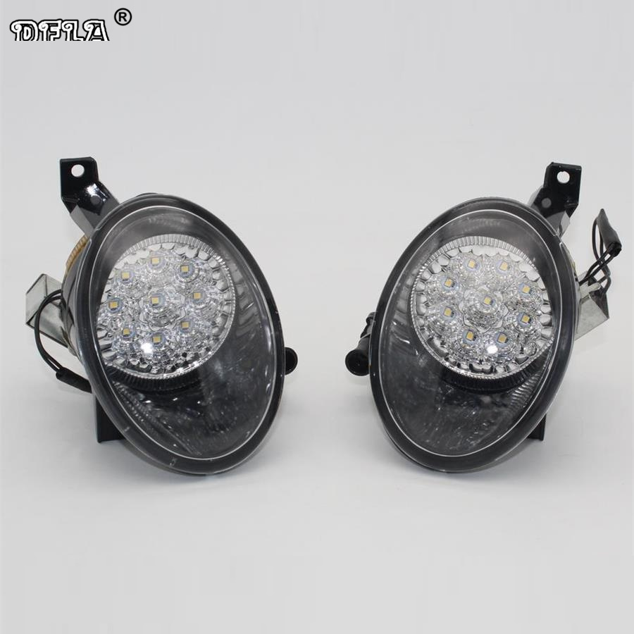 2pcs LED Light For VW Caddy MK2 Facelift 2011 2012 2013 2014 2015 Car-Styling Front Bumper 9 LED Fog Light Fog Lamp car light car styling for vw polo vento sedan saloon 2011 2012 2013 2014 2015 2016 halogen fog light fog lamp and wire