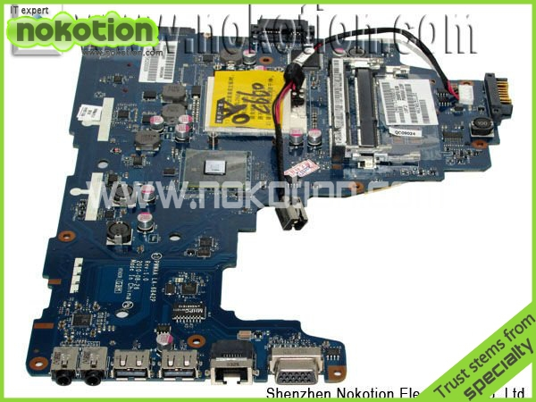 NOKOTION K000111440 PWWAA LA-6842P laptop Motherboard for Toshiba C660 C660-1F1 K000111440 DDR3 tested warranty 60 days for hp laptop motherboard 6570b 686975 001motherboard 100% tested 60 days warranty
