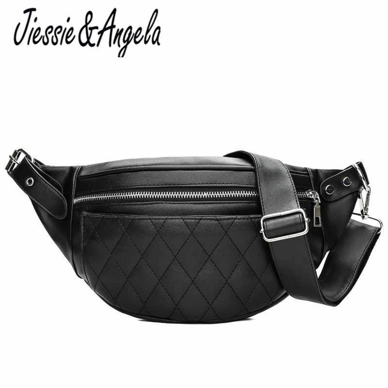 afc1774fd6c9 Jiessie & Angela Женская поясная сумка люксовый бренд нагрудные сумки  модная женская сумка через плечо один