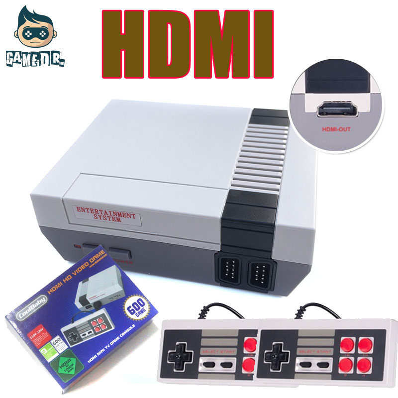 5Pcs HD Mini TV Family Game Console 8 Bit Retro Video Game Console Built In 500