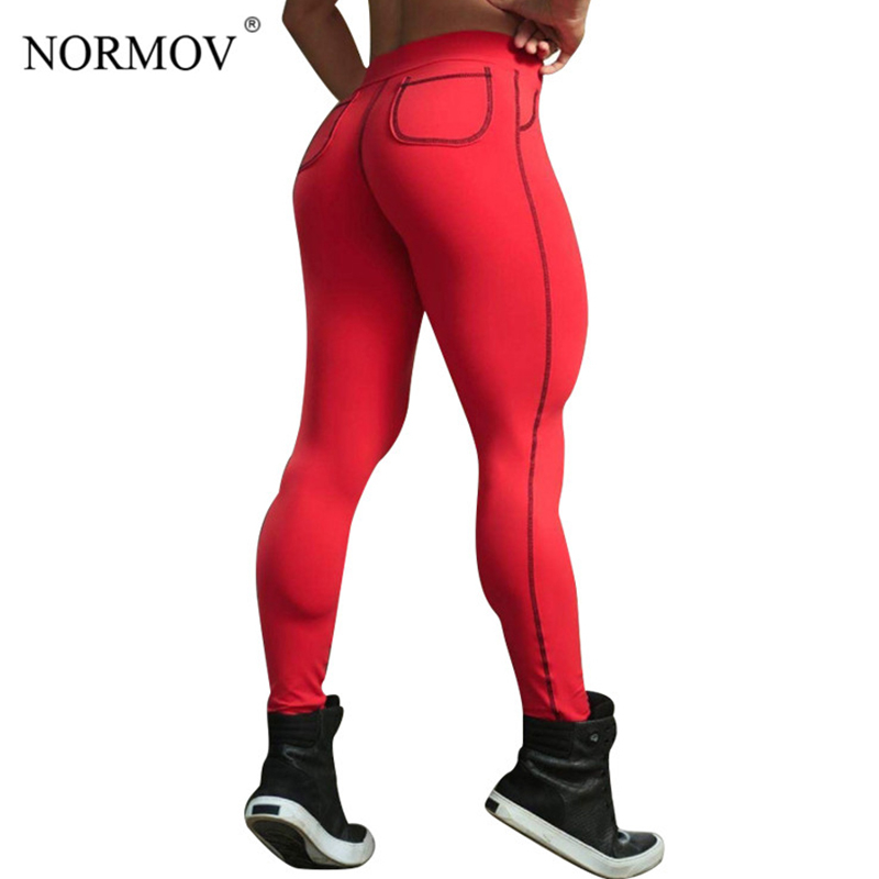 NORMOV S-3XL 2018 Push Up   Leggings   Women Pants Plus Size Fitness   Legging   Activewear Pockets Leggins Jeggings femme 6 Colors