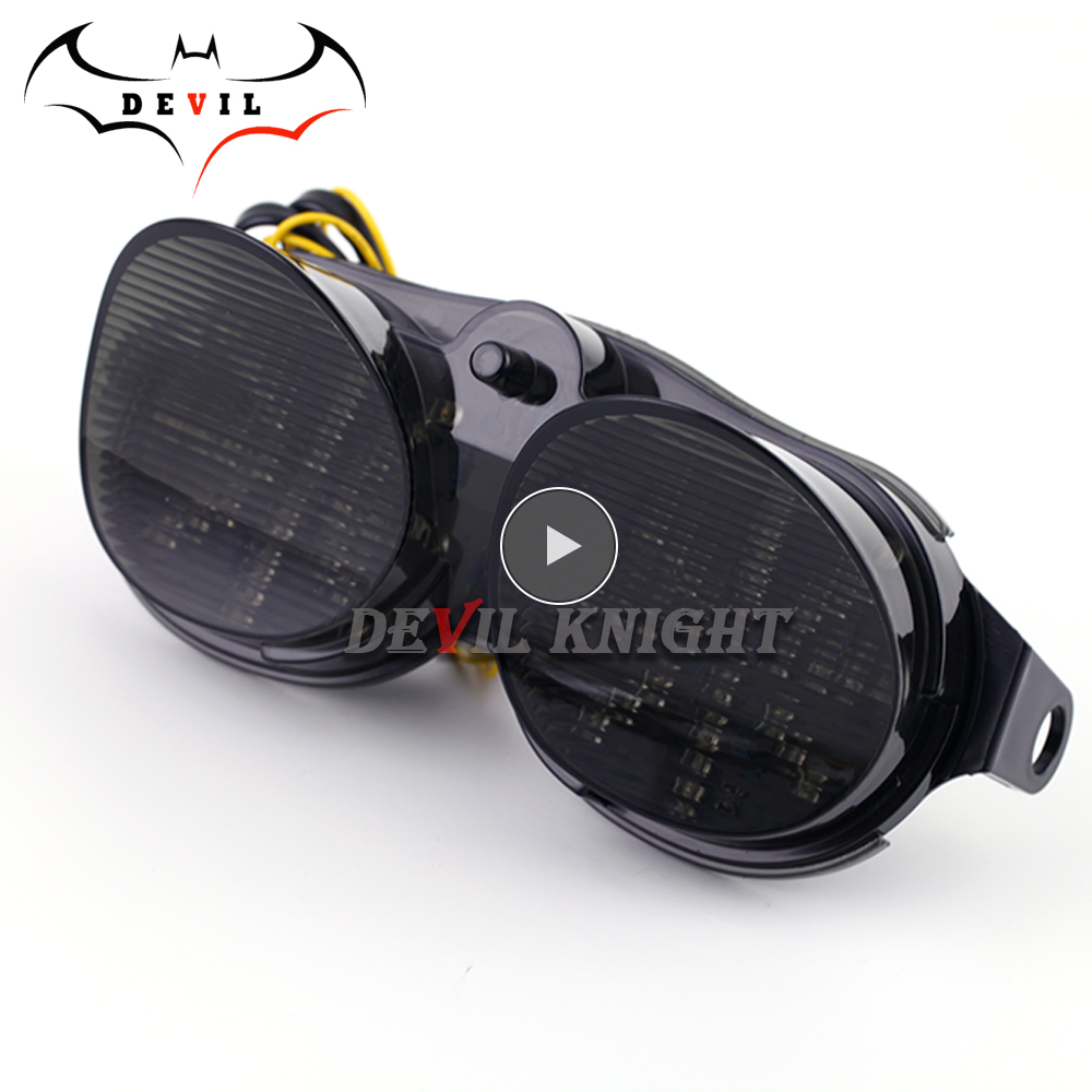 Motorcycle light for Yamaha YZF R6 YZF-R6 00 01 02 XJR 1300 Modified LED tail light motorcycle brake light with led turn signal