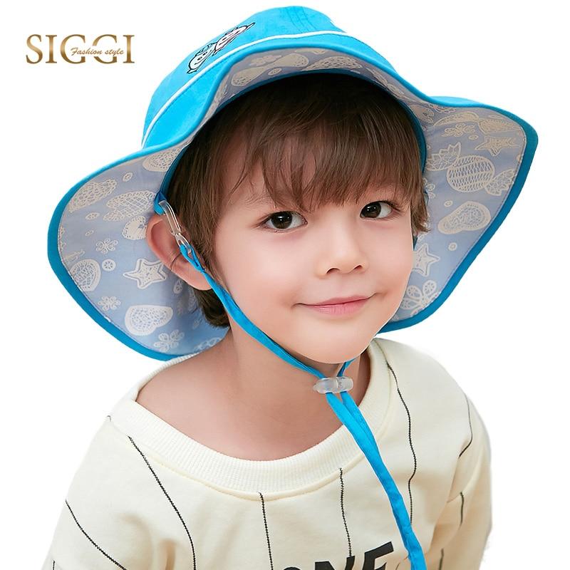 Infant Toddler Bucket Sun Hat Caps 100/% Cotton Canvas Wide Brim Denim Pink