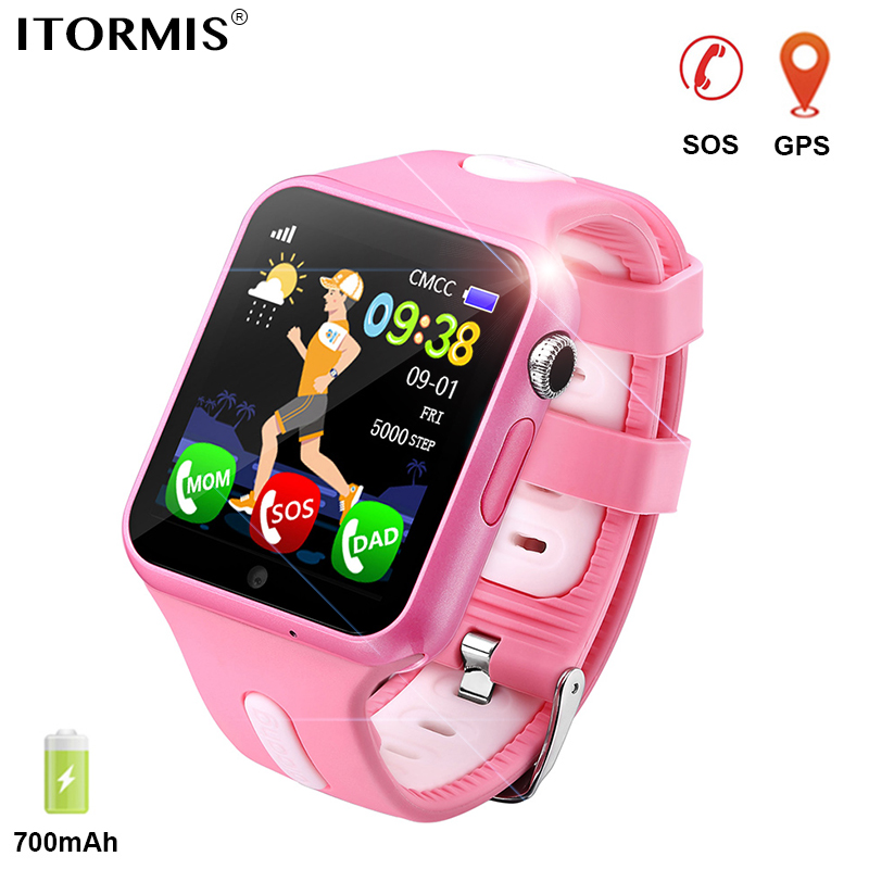 ITORMIS Kids GPS Tracking Smart Watch Smart Baby Watch Phone Smartwatch for Children Location Waterproof Touch Screen PK Q50 Q90