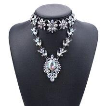Австрийский Кристалл большой нагрудник воротник Подвески ожерелье s для женщин очаровательные ювелирные изделия Макси колье для женщин массивное лучший друг