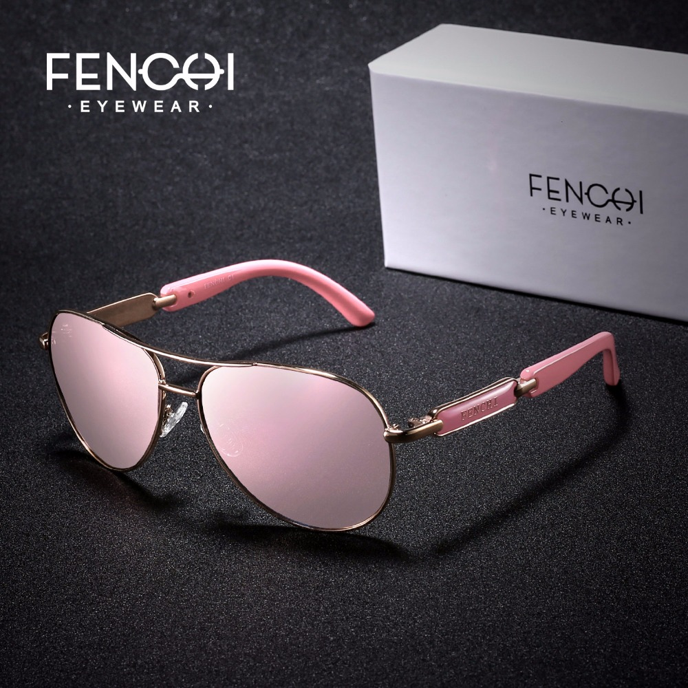 Fenchi Солнцезащитные очки для женщин Для женщин горячий металл лучей Очки вождения пилота зеркало моды Для мужчин Дизайн Новый Солнцезащитные очки для женщин Высокое качество Óculos De Sol