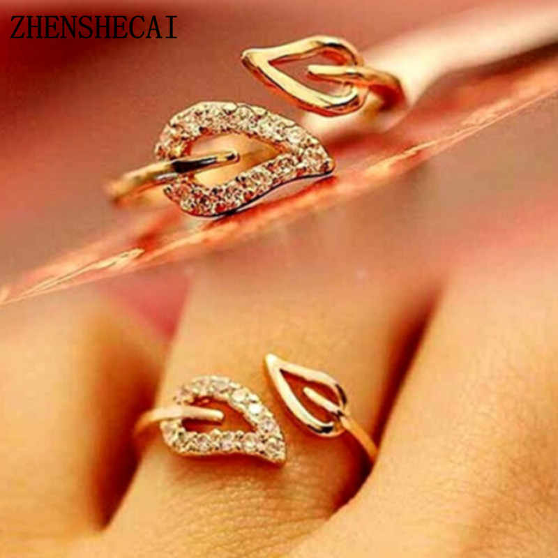The Personality Party Leadership Commitment Gift Shining Bright Elements Rings For Women Lovers Open Ring Hot 2017 Wholesale nj3