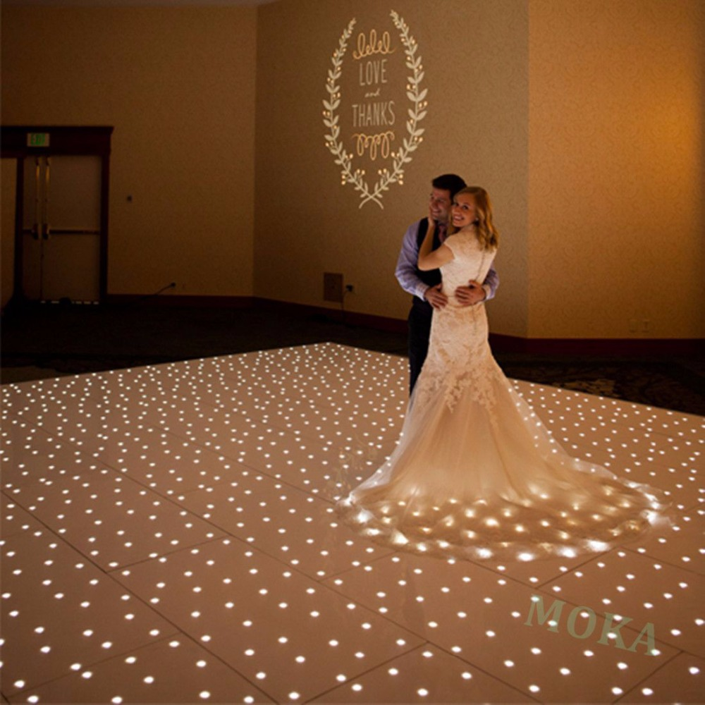 10*10 Feet Starlite Dance Floor LED Wedding Dance Floor Lights Twinkling Dance Floor Led Display Floor For Wedding Decoration