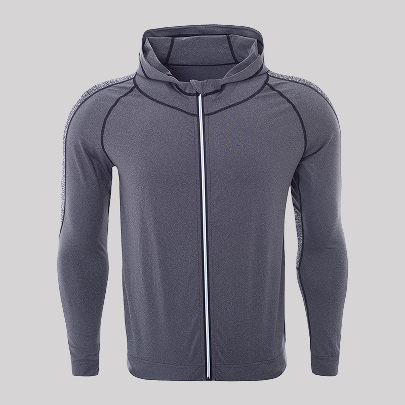 Fitness Hoodie Heren.New Quickly Dry Compression Running Jackets Long Sleeve Gym Fitness