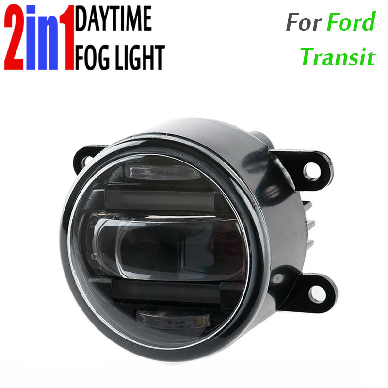 90mm Round Auto Car Truck DRL Daytime Fog Led Daytime Running And Led Fog 2 In 1 With Projector Lens Waterproof For Ford Transit датчик lifan auto lifan 2