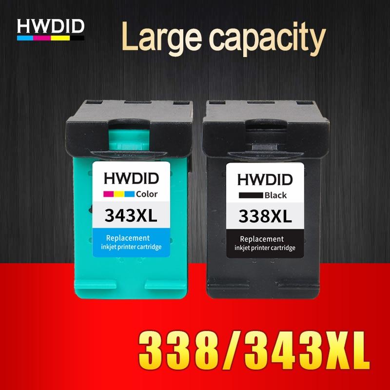 2Pack For HP 338 343 ink cartridge For HP Deskjet 6540 5740 5745 6520 6540 460c