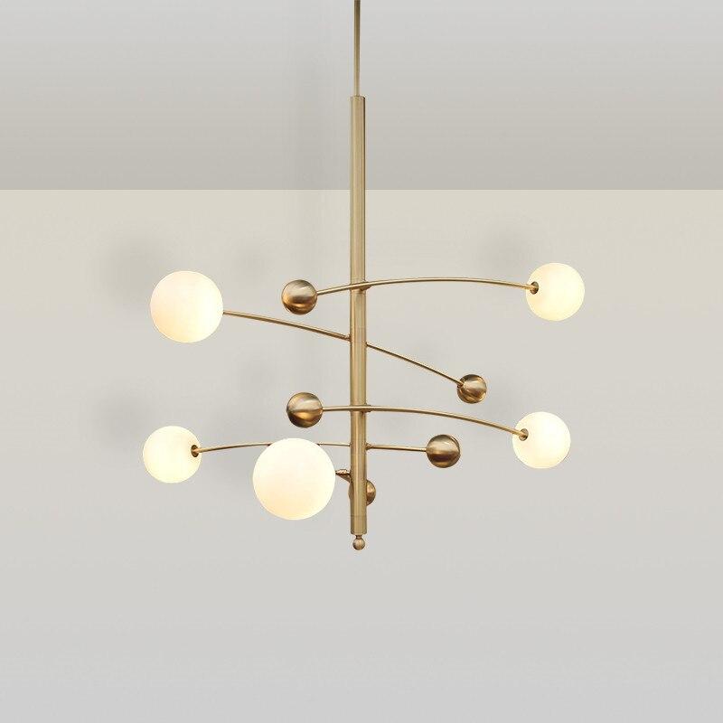 Modern LED Pendant Lights Magic Bean Pendant Modern Glass Ball Molecular 5 Heads For Living Room Restaurant Home Lighting H120