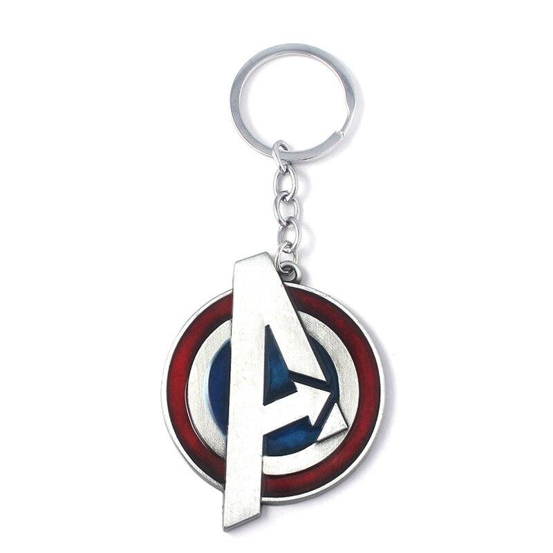 Модный брелок Мстители письмо Капитан Америка кулон Щит металлический брелок Porte Clef автомобильный брелок ювелирные изделия для мужчин подарки - Цвет: Style 1
