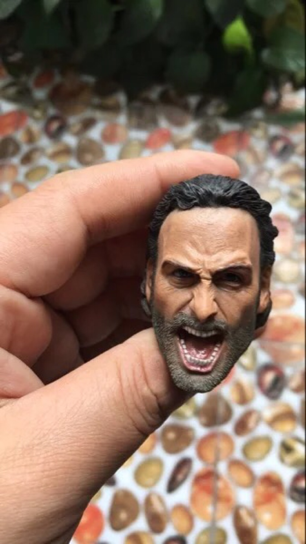 Custom 1/6 Rick Grimes Head Sculpt The Walking Dead For Hot Toys Male Figure ToysCustom 1/6 Rick Grimes Head Sculpt The Walking Dead For Hot Toys Male Figure Toys