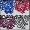 1000 pcs Nail Art Apartamento de Volta Grânulos De Cristal 14 Facetas de Resina rodada Strass Pedra 4mm ss16 Azul Escuro Rosa Escuro Uva Roxa cinza