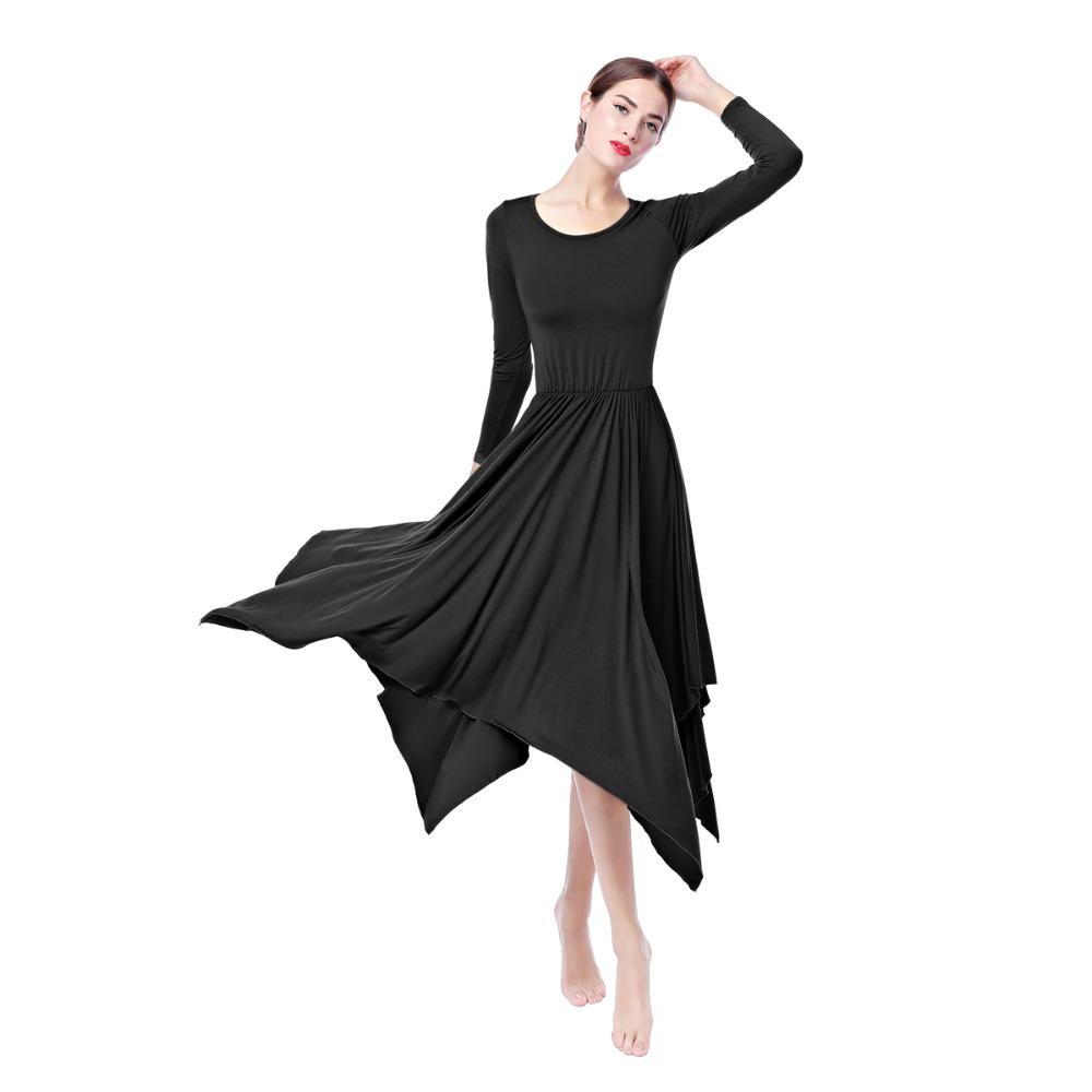 ecc2a2d92bee 2019 New Women'S Liturgical Praise Lyrical Dance Irregular Dress ...