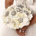 Роскошный Ручной работы Топ-качество Брошь невесты Свадебное свадебный букет невесты горничная стразы Искусственные цветы SP8586s gem