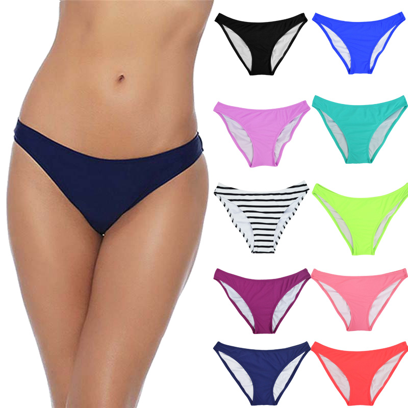 Sexy thong bikini swimwear women thong bathing suits beach wear black thong monokini swimsuits brazilian bikini bottoms 8 color sexy woman brazilian bikini bottoms swimwear swim shorts swimsuit female cheeky bottom brief scrunch thong drawstring