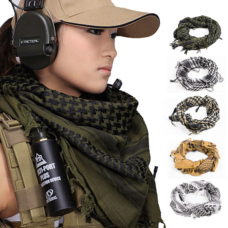 Arab Style Army Scarf Mask Military Windproof  Scarf Neckerchief Kerchief