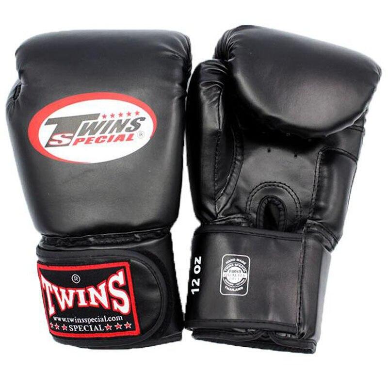 10 12 14 oz gants De boxe PU cuir Muay Thai Guantes De Boxeo combat gratuit mma sac De sable formation gant pour hommes femmes enfants 4 couleurs