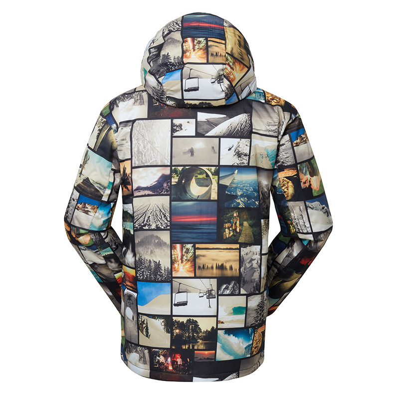 Gsou Snow costume de Ski extérieur pour hommes veste de Ski Double planche hommes chaud respirant imperméable coupe-vent vêtements en coton pour hommes - 3