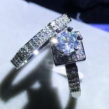 New Year Cute Fashion Female Ring Set Fashion 925 Silver Wed