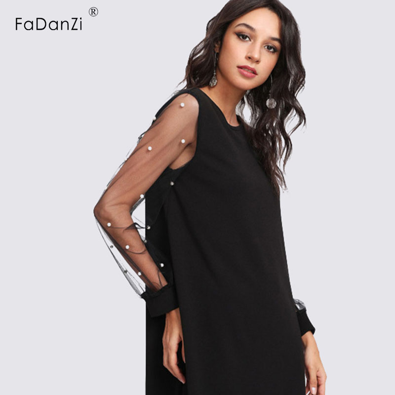 2018 new maternity skirt chiffon fashion sexy puff sleeves net yarn loose splice Pregnant woman dress summer clothes for women