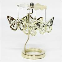 Aroma Fragrance Candle Continental Iron Windmill Birds Rotating Candlestick