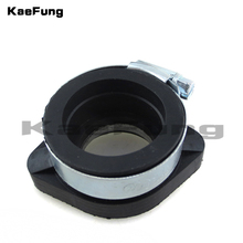 Motorcycle dirt pit par 28mm Rubber Manifold Inlet Intake Pipe Flange Carburetor For Mikuni VM24 Kei