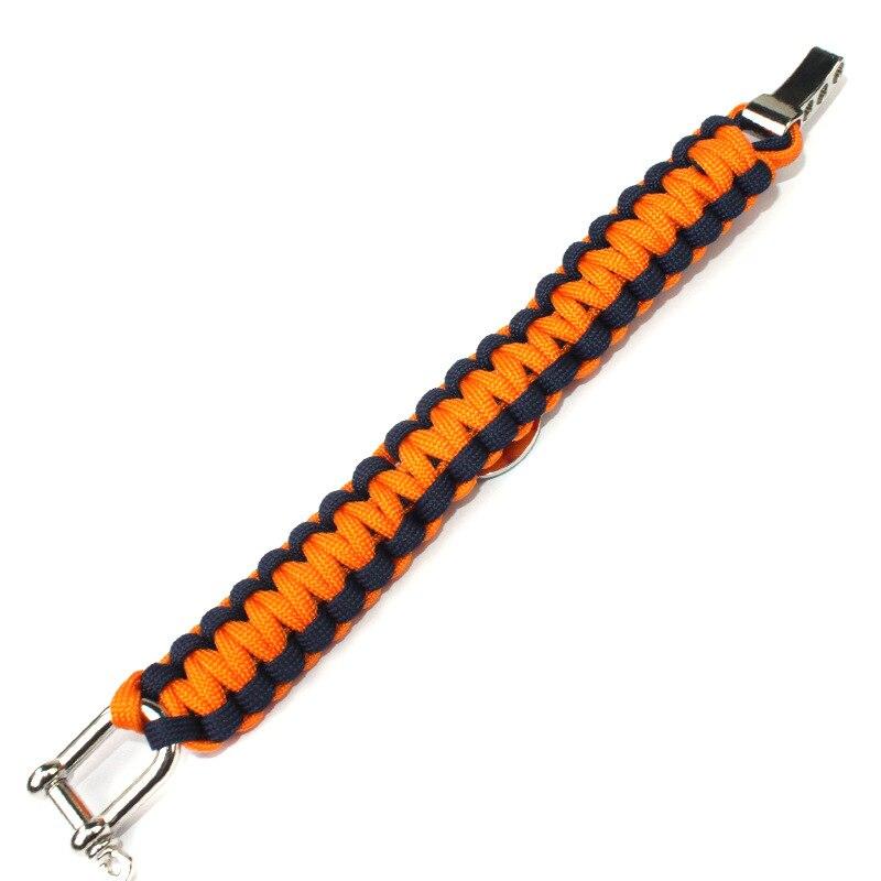 Футбол Спортивная команда Америки Chicago Bears jewelry браслет Открытый выживания аварийного Зонт плетеный браслет для Вентиляторы подарок