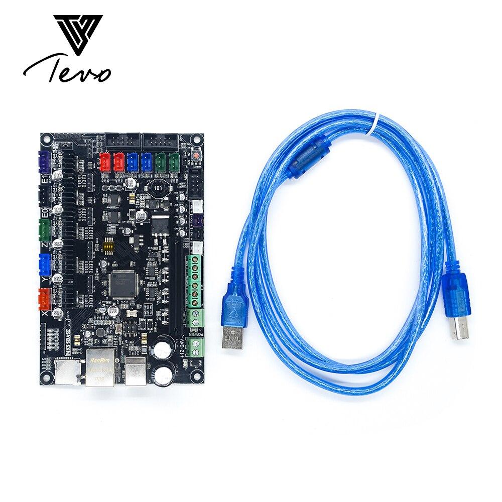 TEVO 32bit Arm plataforma suave placa base MKS SBASE V1.3 abierto MCU-LPC1768 soporte Ethernet disipador de calor preinstalado