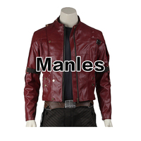 Guardians of The Galaxy Star Lord Cosplay Costume Star Lord Jacket Leather Peter Quill Adult Men Jacket Only Halloween Costume
