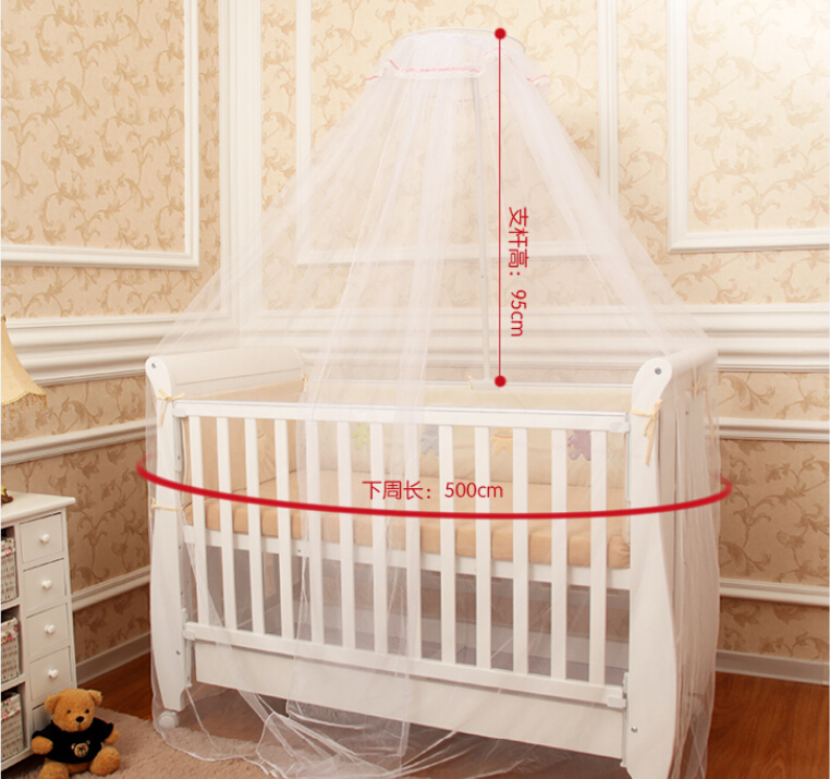 Cheap Price Baby Bed Accessoris Crib CanopyMosquito Net For Toddler Cot Canopy White YellowFoldable Netting Mesh In From Mother
