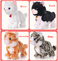 2016 Brinquedos Do Bebê Produtos de Controle de Som Eletrônico Pet Brinquedos Eletrônicos gato Gato Robô Estande Caminhada Plush Kids Brinquedos Presente para crianças