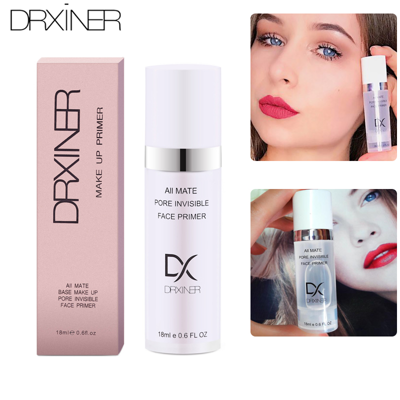 DRXINER face primer base makeup Natural Matte Make Up Foundation Primer Pores Invisible Prolong Facial Oil-control face primer Силиконы