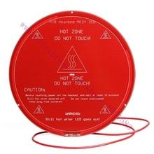 3D printer Reprap PCB Heated HeatBed plate Reprap MK2Y Round Heating Bed, Diameter 220mm ,1.6mm thickness