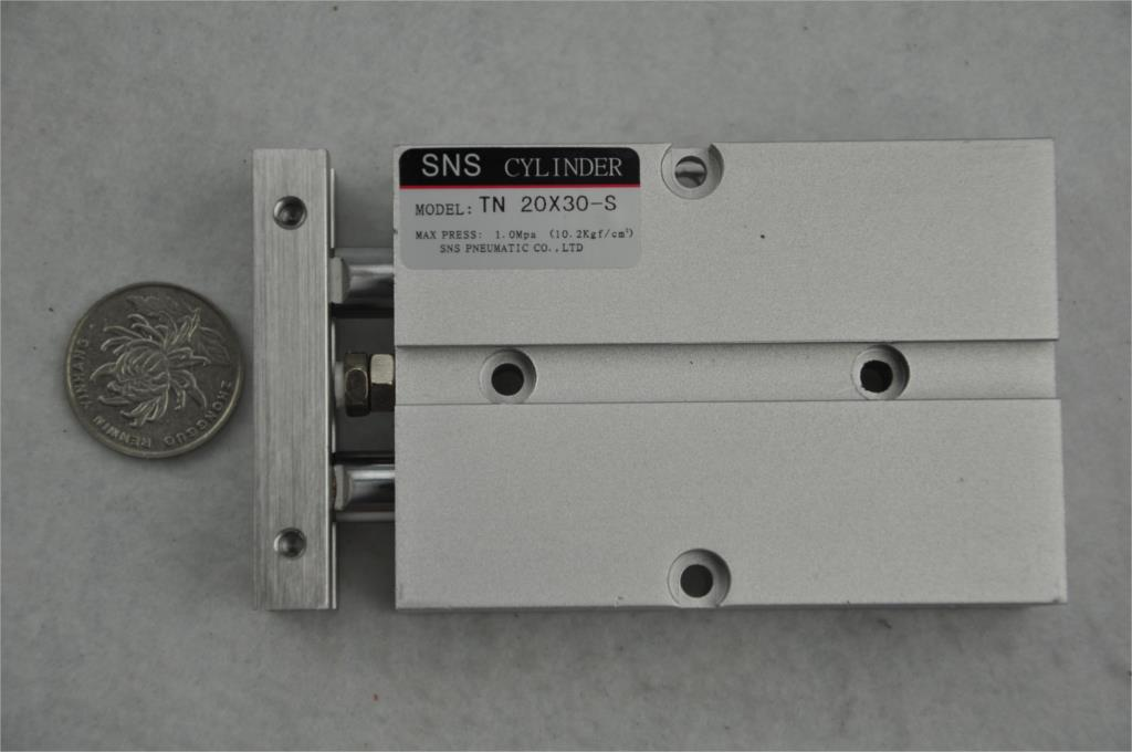 SNS TN20 * 30-S M5with magnetic reed Airtac type  twin rod  guide dual shaft acting guide  air pneumatic cylinder su63 100 s airtac air cylinder pneumatic component air tools su series