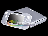 Personalized Silver 3D Pattern Carbon Fiber Whole Body Skin Stickers Protector Cover For Nintendo Wii U
