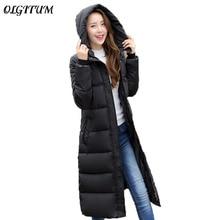 Зимняя куртка с хлопковой подкладкой Для женщин Тонкий Толстые звезды печати женские пальто женские зимние парки теплая Длинные зимние куртки женские пальто