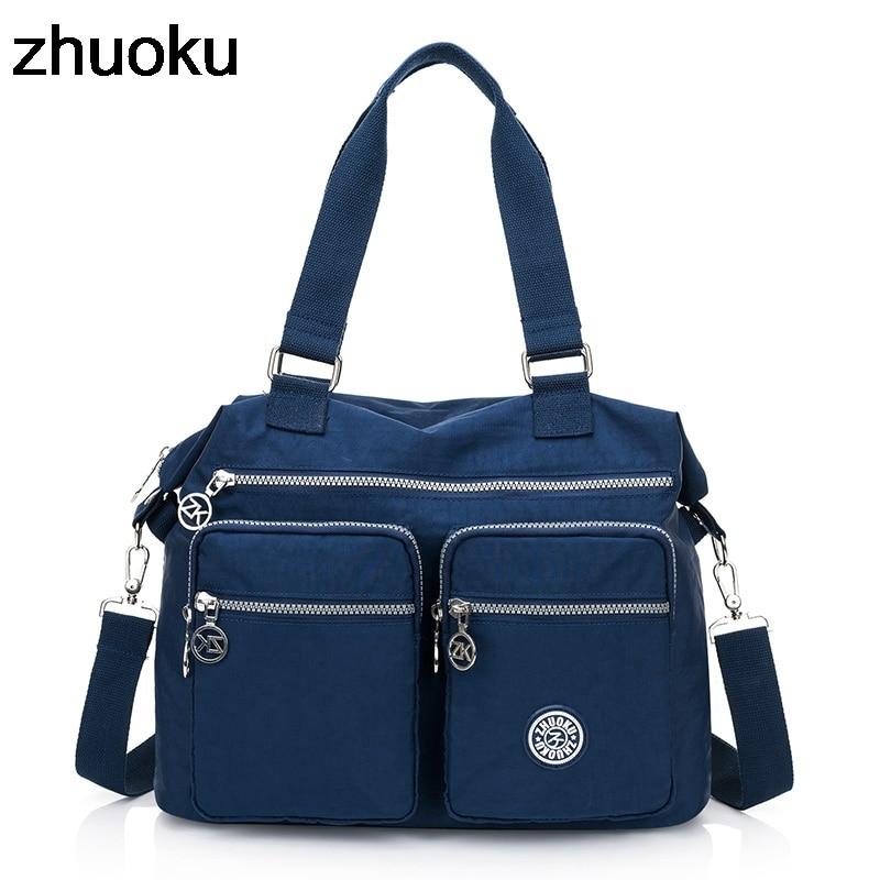 Women Top-handle Shoulder Bag Luxury Handbags Designer Nylon Messenger Bags Beach Casual Tote Female Purse Crossbody Bags
