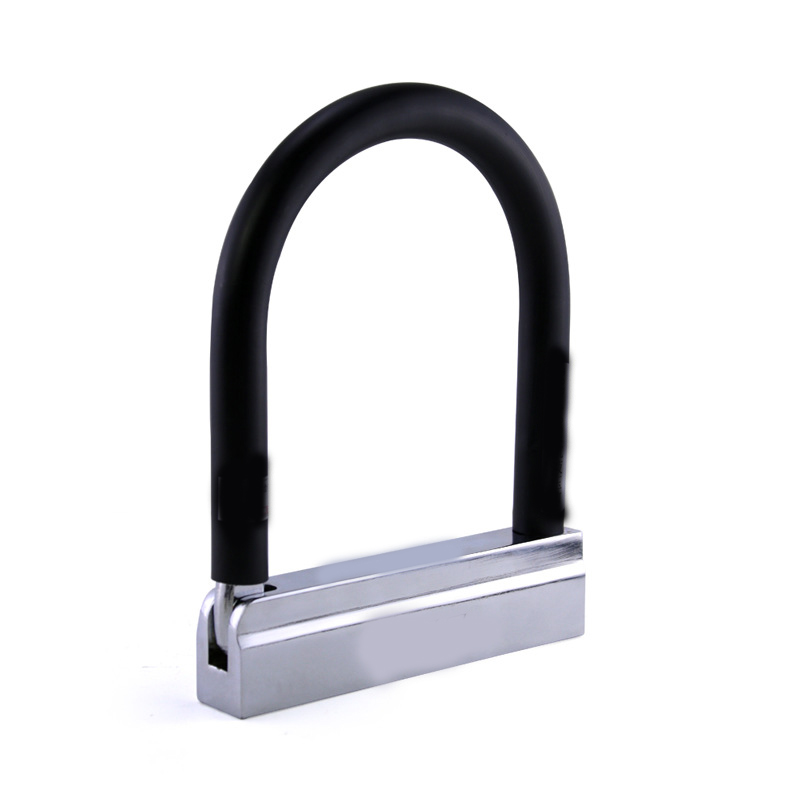 Dongzhen Bike U Lock Anti Theft Locks Bicycle Motorcycle Gates Safety Lock Double Motorcycle Glass Door Anti-lock Styling 1pcs etook 2017 new mtb bike u lock steel bicycle security lock anti theft portable motorcycle outdoor sports cycling accessories