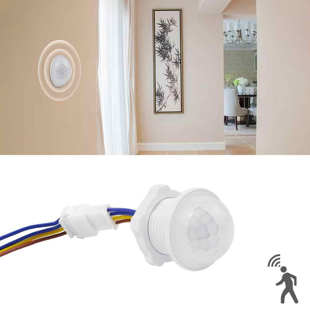 Rumah Lampu Switch DENGAN MOTION SENSOR LED Pir Detector IR Infrared MOTION SENSOR Switch 85-265 V Lampu LED lampu Smart Switch