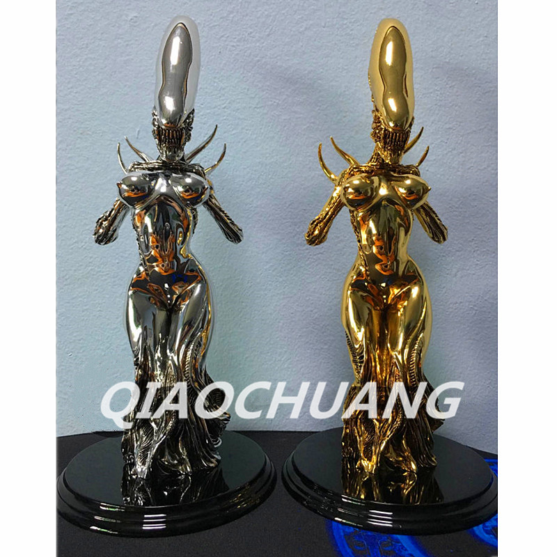 Statue Alien vs Predator Alien Queen Bus Galvanograph Resin Full-Length Portrait Action Figure Collectible Model Toy Boxed W164