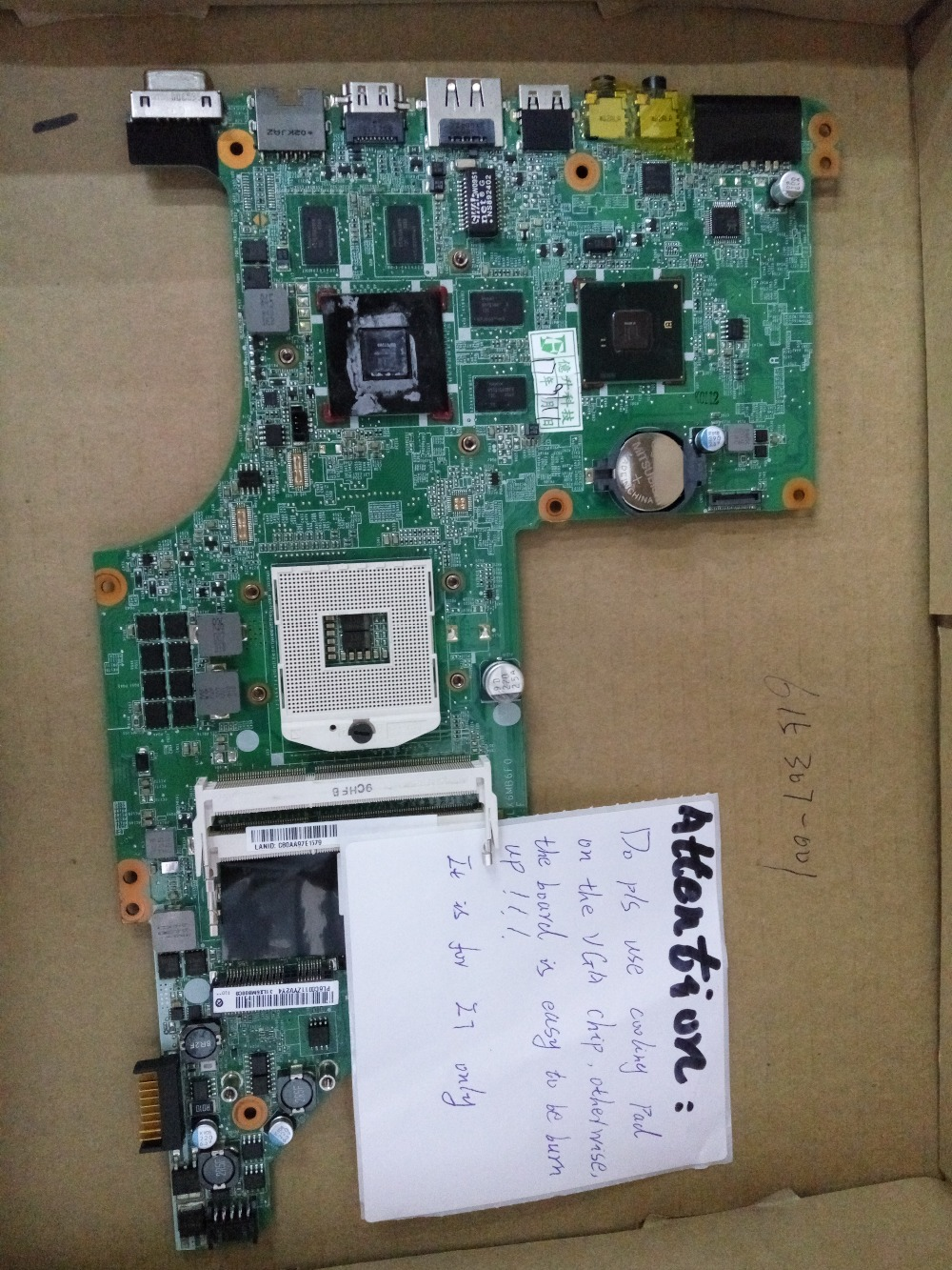 I7 only 615307-001 lap  DV7 DV7T HM55 connect with printer motherboard full test lap connect board 595133 001 lap connect with printer motherboard dv6 dv6t full test lap connect board