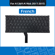 10pcs/Lot A1466 FR French keyboard for Macbook Air 13″ A1369 A1466 France Keyboard Replacement 2011 2012 2013 2014 2015