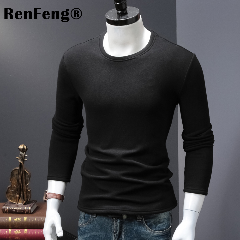 High Quality O-neck Sweater Men Winter thick Pullover Solid Knitted Sweater Tops for Men Autumn Male oversized Sweater Knitwear (6)