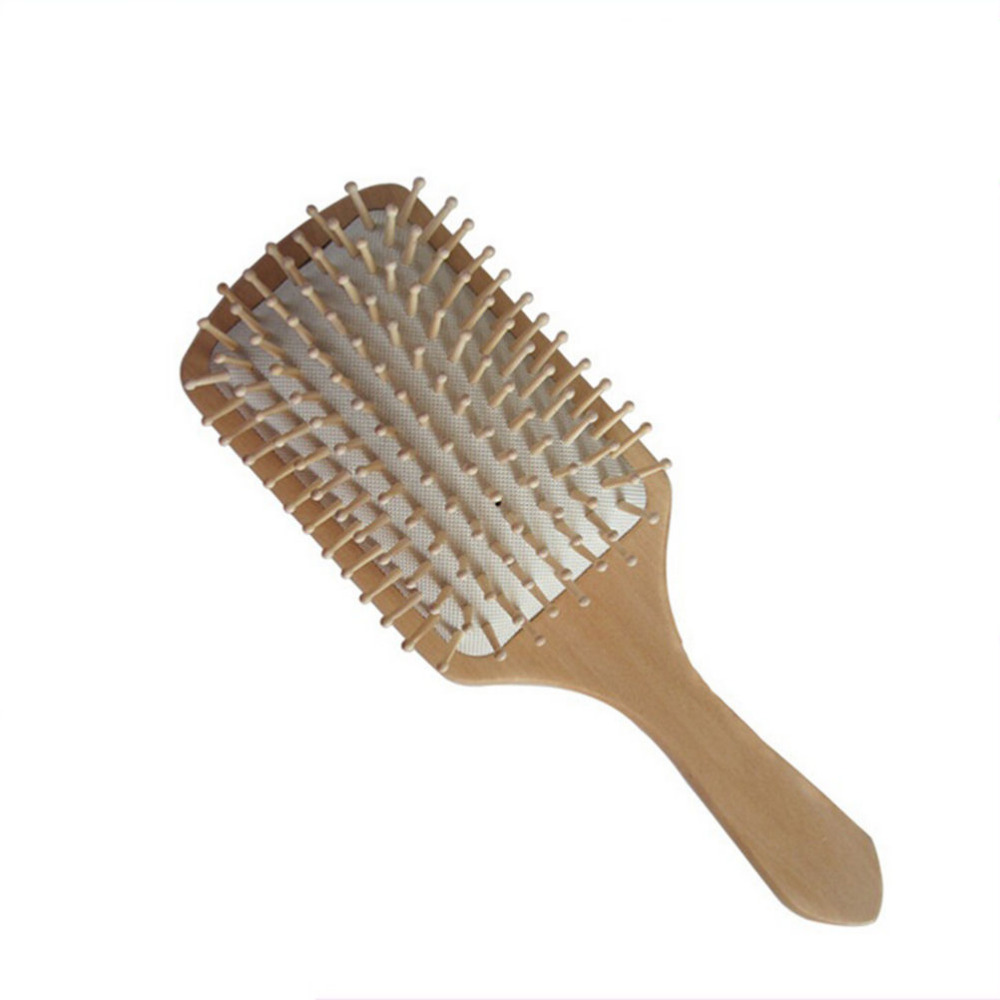 Hair Care Wooden Spa Massage Comb Wooden Paddle Pointed Handle Teeth Hair Brush Antistatic Cushion Comb wooden paddle hairbrush uk