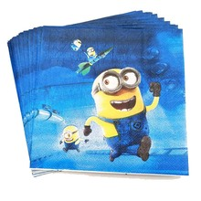 20pcs/set Minions Disposable Paper Napkin Cartoon Party For Kids Happy Birthday Decoration Theme Supplies boy girls favor