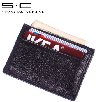Free Shipping wholesale + 100% genuine Cow leather wallet + new fashion designer credit Card Holder hot sale